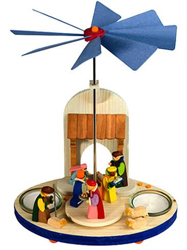 165 Nativity Scene Tea Light German Pyramid