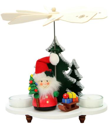33-209 Santa with Sled Ulbricht Tea Light German Pyramid