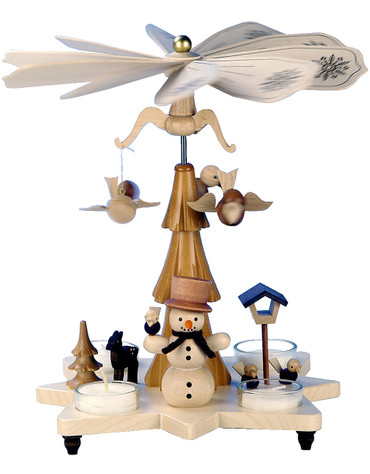 33-301 Snowman Ulbricht Tea Light German Pyramid