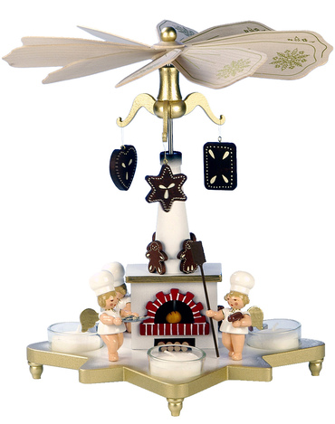 33-302 Angels Ulbricht Tea Light German Pyramid