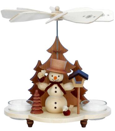 33-202 Snowman Natural Ulbricht Tea Light German Pyramid