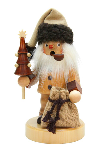 35-968 Natural Santa with Tree Incense Burner Christian Ulbricht Smoker