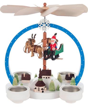 085-842 Flying Santa Scene Christmas Story Pyramid