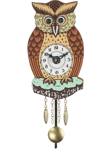 201QP Battery Owl Clock with moving eyes