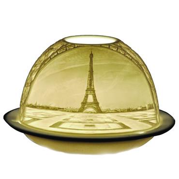 21834 Bernardaud Porcelain La Tour Eiffel Lithophane Votive Candle