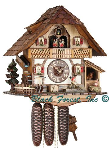 8TMT2560-9 Musical Farm House Chalet 8 Day Cuckoo Clock