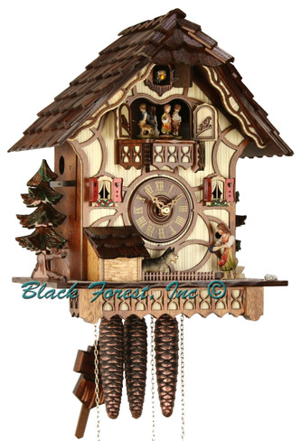 MT712-9 Musical See Saw Chalet 1 Day Cuckoo Clock