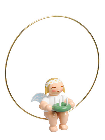 6308-155 Marguerite Angel with Wreath Ornament from Wendt and Kuhn