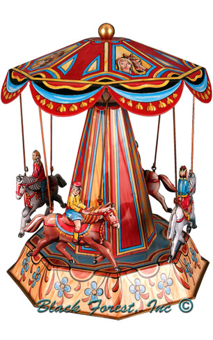 016MR Horse Carousel Tin Toy made in Germany
