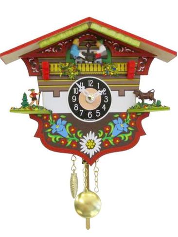 0143KQP Quartz Chiming Pendulum Miniature Clock
