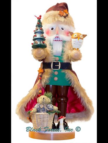 S3000 Woodland Santa with Teddy Bear Steinbach Nutcracker