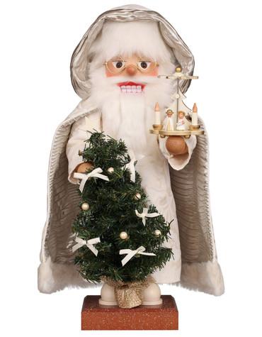 0-813 Christian Ulbricht Santa with Tree and Pyramid Nutcracker