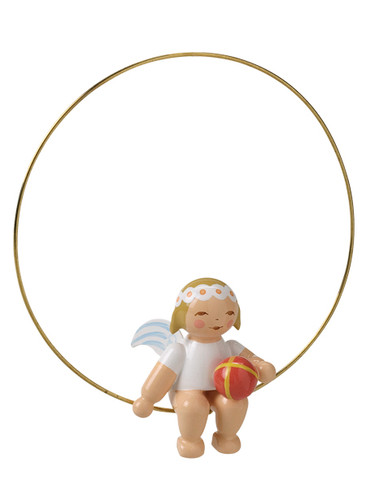 6308-24 Marguerite Angel with Ball Ornament from Wendt and Kuhn