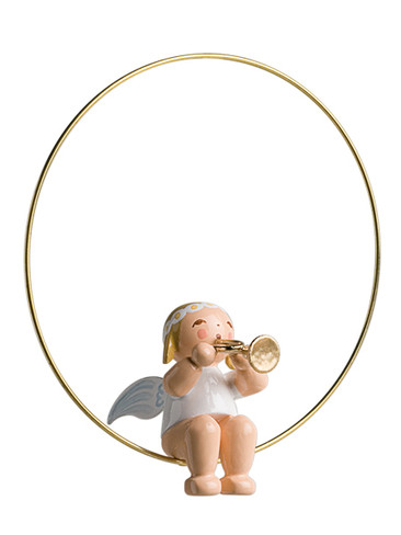 6308-36 Marguerite Angel with Trumpet Ornament from Wendt and Kuhn