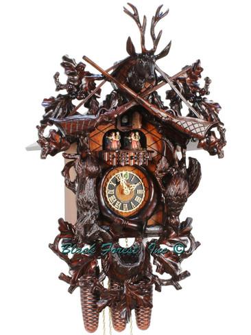 86261-5TNU Hones Large 8 Day Hunters Cuckoo Clock