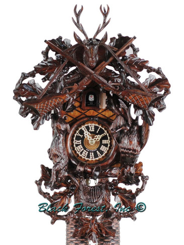8261-5 Hones Large 8 Day Hunters Cuckoo Clock