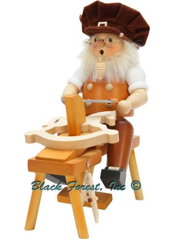 1-198 Ulbricht Incense Burner Wood Carver Smoker