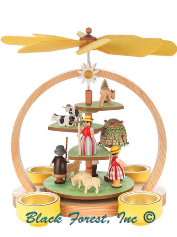 085-821 Summer Meadow Christmas Story Pyramid