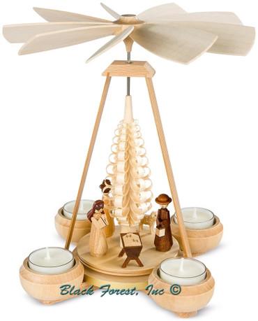 10124 Mueller Natural Tea Light Nativity Pyramid