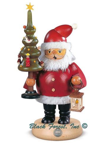 16130 Santa with Tree Mueller Smoker