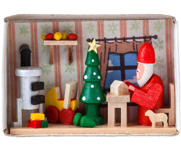 BF-028048 Santa's Workshop Matchbox from Germany