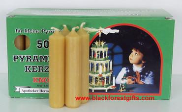 81544022 Natural Medium Candles for Christmas Pyramid