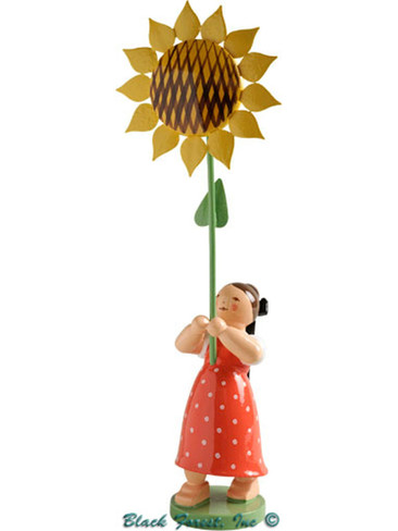5248-7 Girl with Sunflower from Wendt and Kuhn