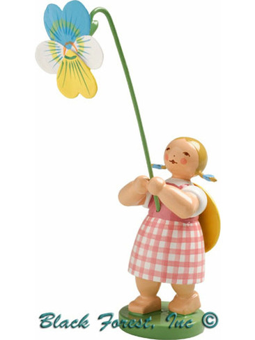 5248-9 Girl with Pansy from Wendt and Kuhn