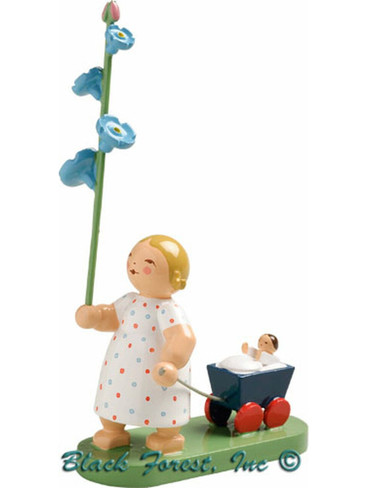 5248-12 Girl with Forget Me Not from Wendt and Kuhn