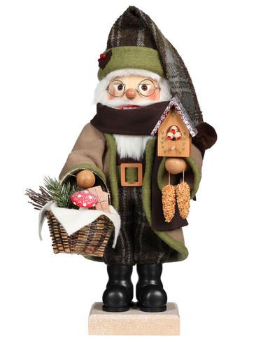 0-827 Forest Santa with Bird House Christian Ulbricht Nutcracker