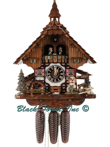 86233T Hones 8 Day Kissing Cuckoo Clock