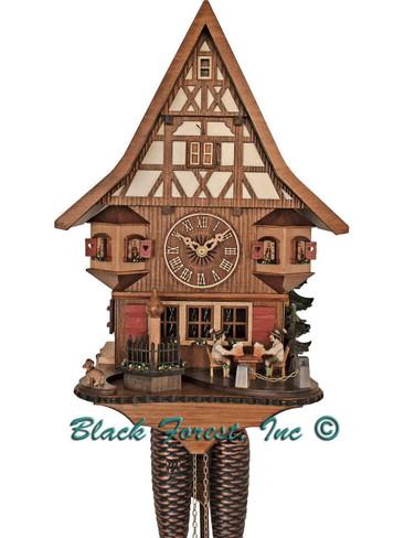 8T 526-9 Anton Schneider 8 Day Beer Drinkers Cuckoo Clock