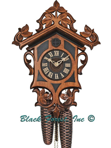 8T 555-7 Anton Schneider 8 Day with Dark Onlays Cuckoo Clock