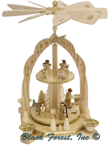 31261 Christmas Story Two Tier German Pyramid with Angels