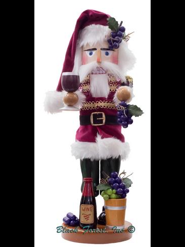 S3002 Wine Santa Steinbach Nutcracker from Germany