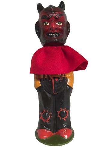 402-23 Halloween Devil Schaller Paper Mache Candy Container