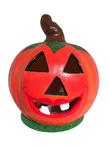 421-5 Halloween Pumpkin Schaller Paper Mache Candy Container