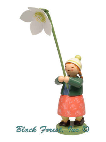 5248-25 Girl with Christmas Rose from Wendt and Kuhn