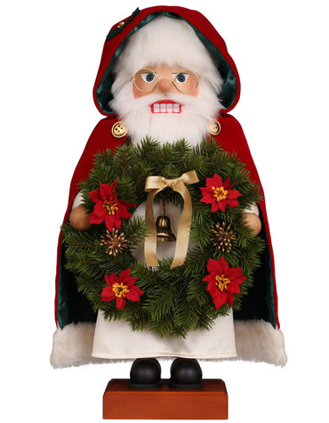 0-832 Ulbricht Santa with Wreath Nutcracker