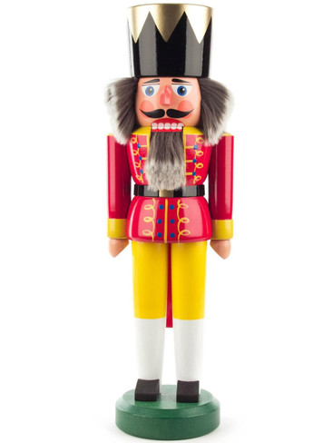 012-008-4 German Nutcracker King with Red Coat