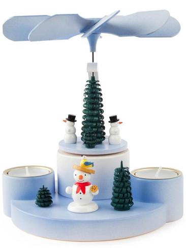 085-922 German Snowman Tea Light Pyramid