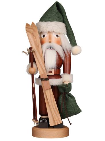 32-319 Ulbricht Santa Skier Natural Nutcracker
