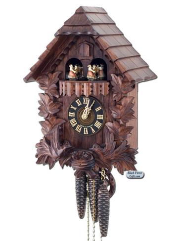 6442-4TKA Carved Feeding Birds Musical 1 Day Cuckoo Clock
