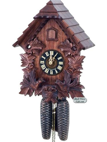 8442-4 Hones Carved 8 Day Feeding Birds Cuckoo Clock