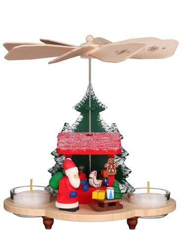 33-211 Santa and Toys Ulbricht Tea Light German Pyramid