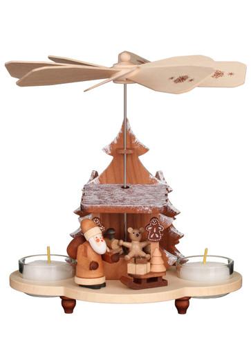 33-212 Natural Santa and Toys Ulbricht Tea Light German Pyramid