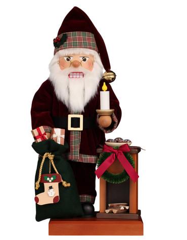 0-840 Ulbricht Fireplace Santa Nutcracker