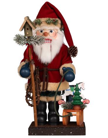 0-843 Ulbricht Santa with Sled Nutcracker