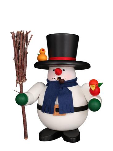 1-479 Ulbricht Incense Burner Snowman with Birds Smoker