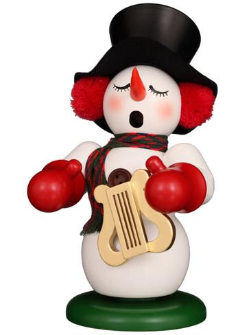 1-077 Ulbricht Incense Burner Snowman with Lyre Smoker